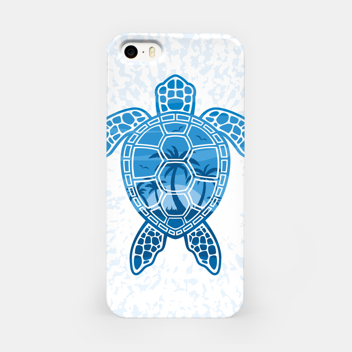 Foto Tropical Island Sea Turtle Design in Blue iPhone Case - Live Heroes