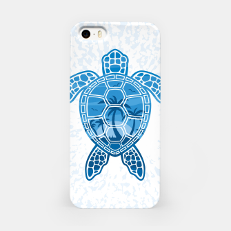 Miniatur Tropical Island Sea Turtle Design in Blue iPhone Case, Live Heroes