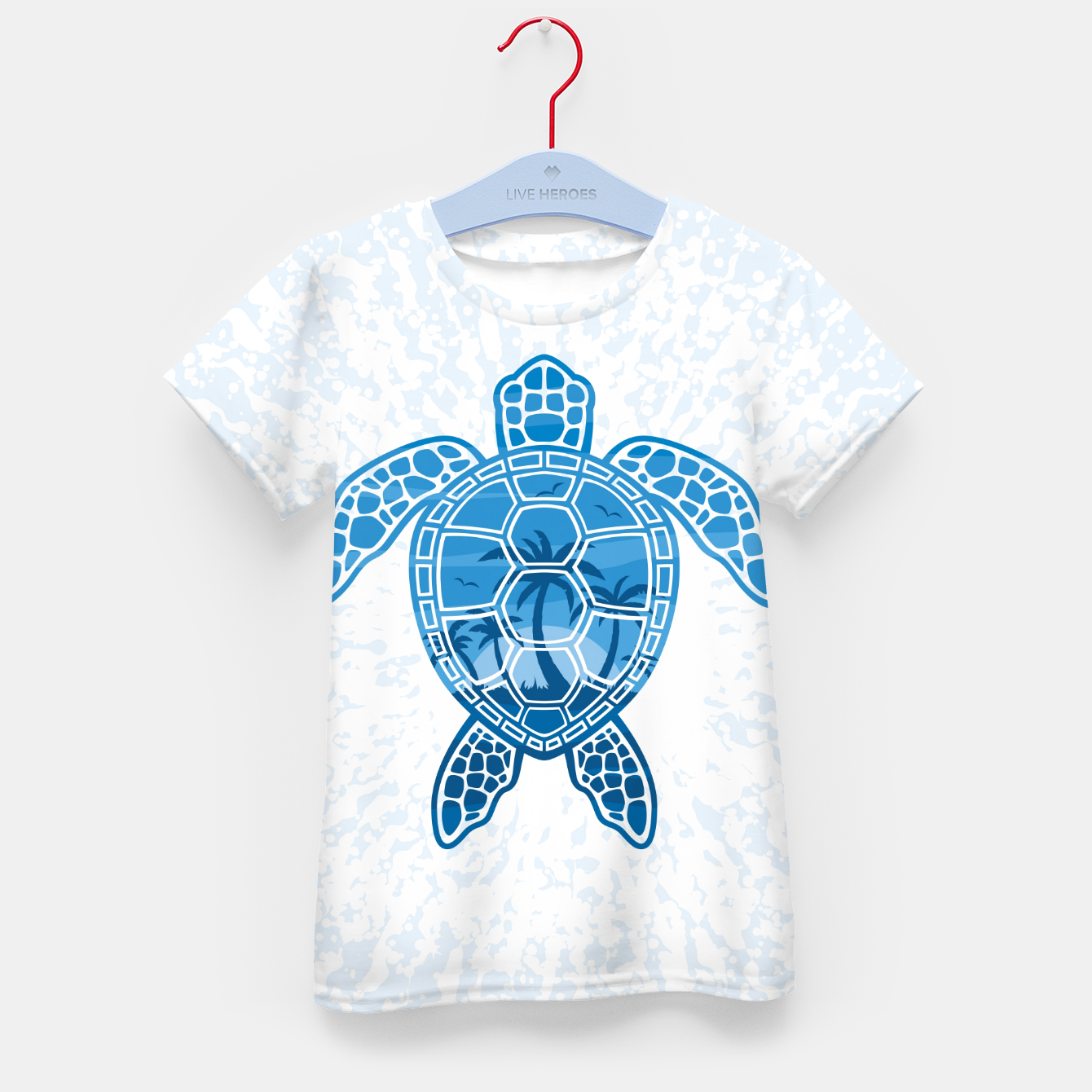 Foto Tropical Island Sea Turtle Design in Blue Kid's t-shirt - Live Heroes