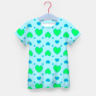 Thumbnail image of Blue and green hearts on blue Camiseta para niños, Live Heroes