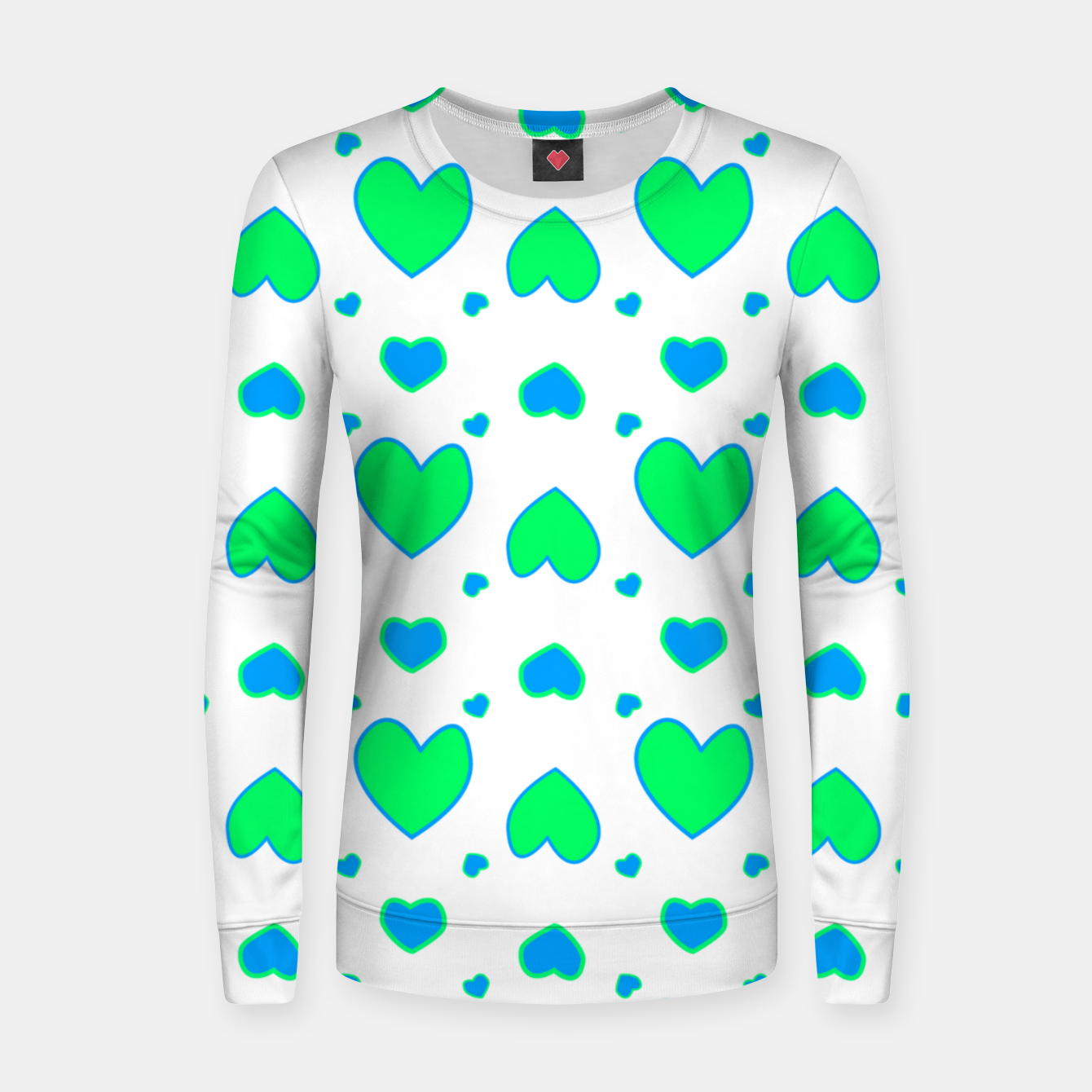 Image de Blue and red hearts on white Sudadera para mujeres - Live Heroes