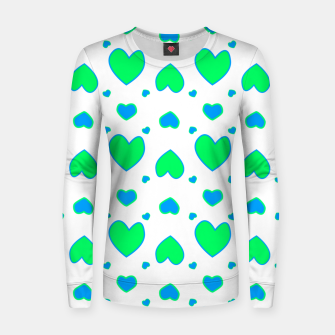 Thumbnail image of Blue and red hearts on white Sudadera para mujeres, Live Heroes