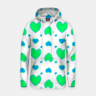 Thumbnail image of Blue and red hearts on white Sudadera con capucha, Live Heroes
