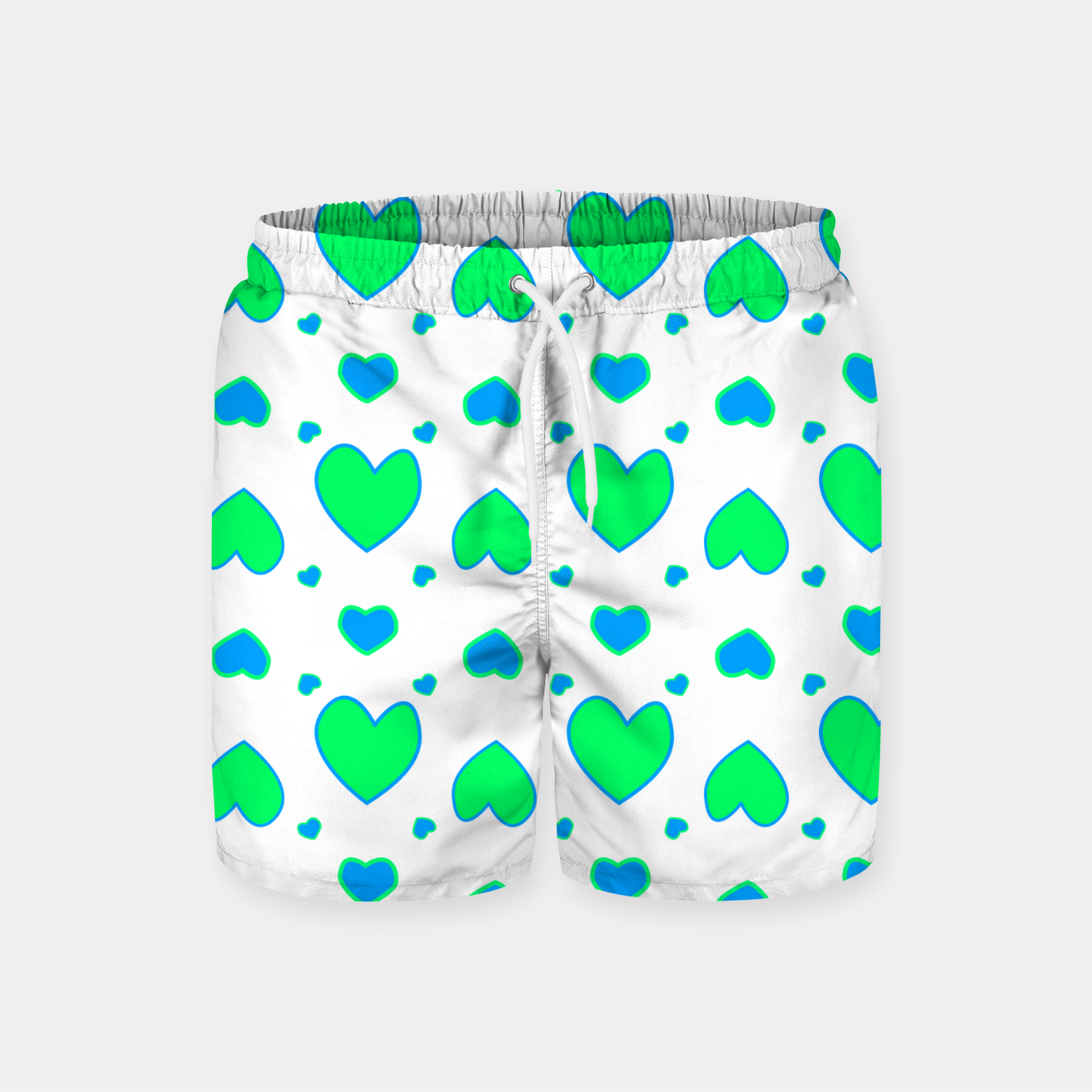 Image de Blue and red hearts on white Pantalones de baño - Live Heroes
