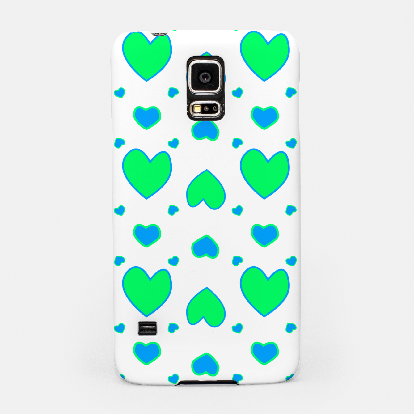 Image de Blue and red hearts on white Carcasa por Samsung - Live Heroes