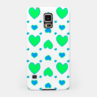 Blue and red hearts on white Carcasa por Samsung miniature