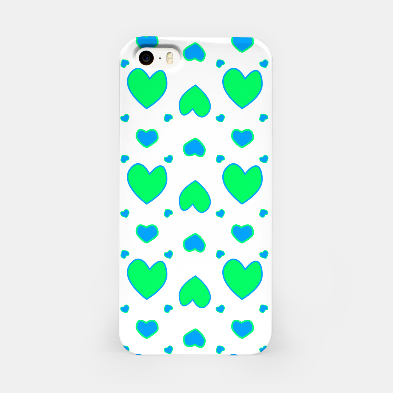 Image de Blue and red hearts on white Carcasa por Iphone - Live Heroes