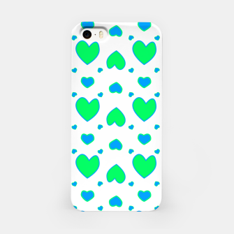 Miniature de image de Blue and red hearts on white Carcasa por Iphone, Live Heroes