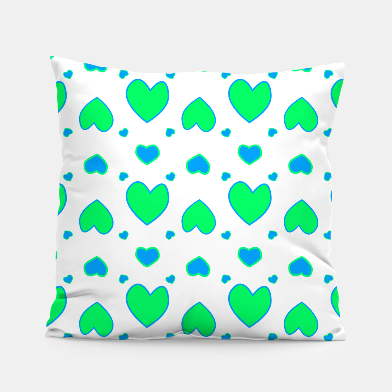 Image de Blue and red hearts on white Almohada - Live Heroes