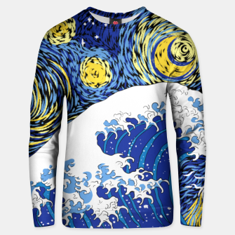 Thumbnail image of Great Starry Wave Unisex sweater, Live Heroes