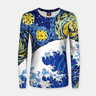 Thumbnail image of Great Starry Wave Women sweater, Live Heroes