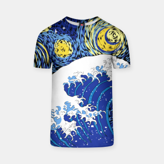 Miniatur Great Starry Wave T-shirt, Live Heroes