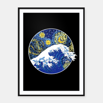 Thumbnail image of Great Starry Wave Framed poster, Live Heroes