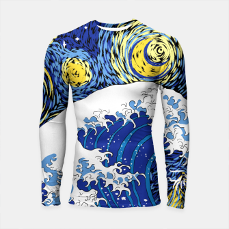 Thumbnail image of Great Starry Wave Longsleeve rashguard , Live Heroes