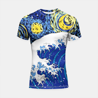 Thumbnail image of Great Starry Wave Shortsleeve rashguard, Live Heroes