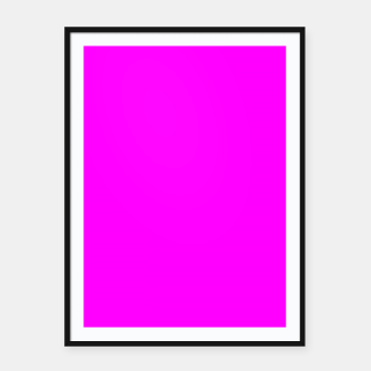 Miniatur color fuchsia / magenta Framed poster, Live Heroes