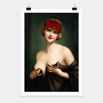 Miniature de image de Young Woman In A Negligee by Francois Martin-Kavel Poster, Live Heroes