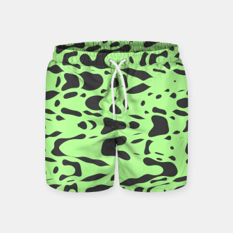 Miniatur Mint green, flying gray pieces and particles free in the space, relaxing design Swim Shorts, Live Heroes
