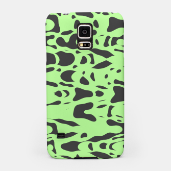 Miniatur Mint green, flying gray pieces and particles free in the space, relaxing design Samsung Case, Live Heroes