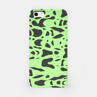 Miniatur Mint green, flying gray pieces and particles free in the space, relaxing design iPhone Case, Live Heroes