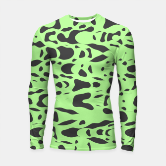 Miniatur Mint green, flying gray pieces and particles free in the space, relaxing design Longsleeve rashguard , Live Heroes