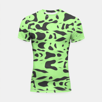 Miniatur Mint green, flying gray pieces and particles free in the space, relaxing design Shortsleeve rashguard, Live Heroes