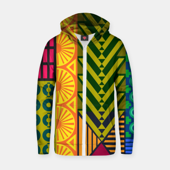 Thumbnail image of AfriPattern 01 Zip up hoodie, Live Heroes