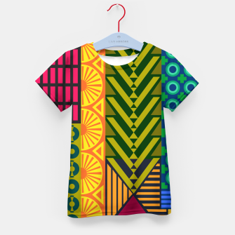 Thumbnail image of AfriPattern 01 Kid's t-shirt, Live Heroes