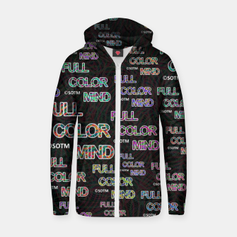 Thumbnail image of Full Color Mind Zip up hoodie, Live Heroes
