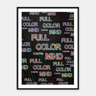 Thumbnail image of Full Color Mind Framed poster, Live Heroes