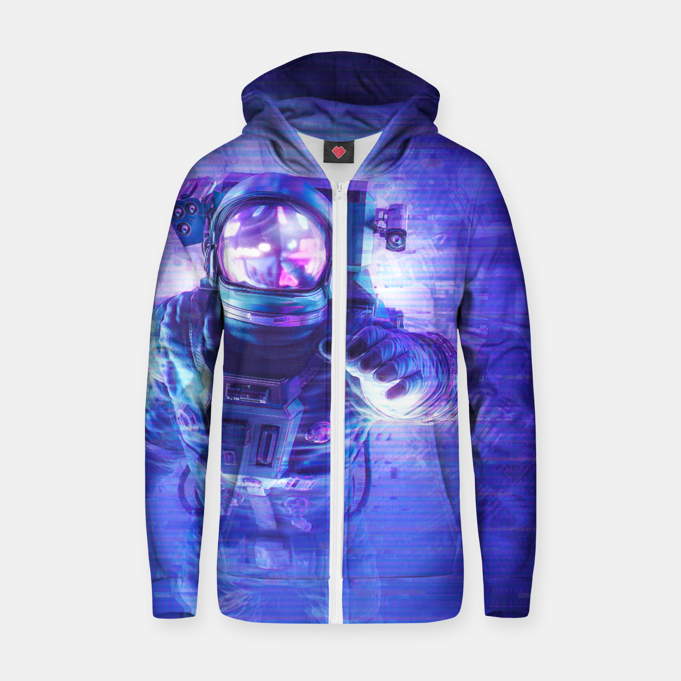 Image of Transmission Error Zip up hoodie - Live Heroes