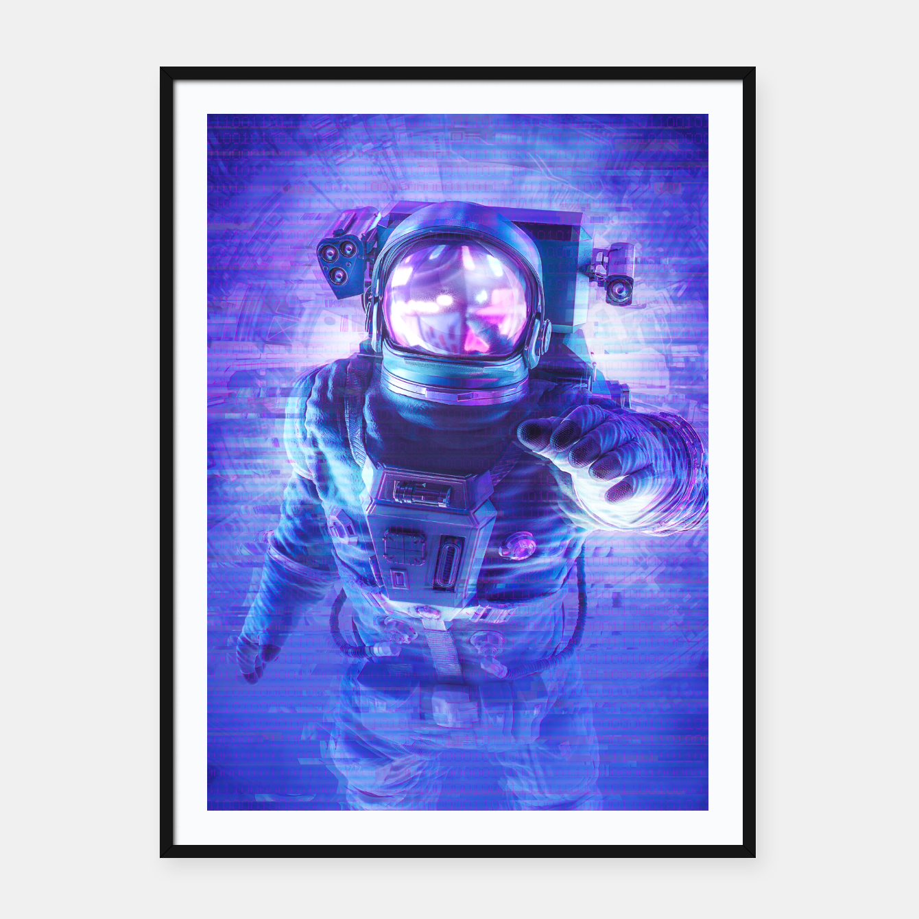 Image of Transmission Error Framed poster - Live Heroes