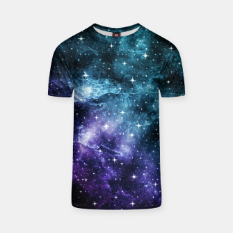 Thumbnail image of Teal Purple Galaxy Nebula Dream #1 #decor #art  T-Shirt, Live Heroes