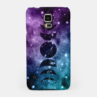 Thumbnail image of Purple Teal Galaxy Nebula Dream Moon Phases #1 #decor #art  Handyhülle für Samsung, Live Heroes