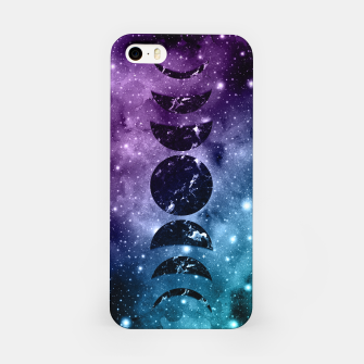 Thumbnail image of Purple Teal Galaxy Nebula Dream Moon Phases #1 #decor #art  iPhone-Hülle, Live Heroes