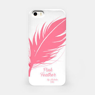 Miniatur Pink Feather iPhone Case, Live Heroes