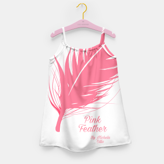 Miniatur Pink Feather baby's dress, Live Heroes