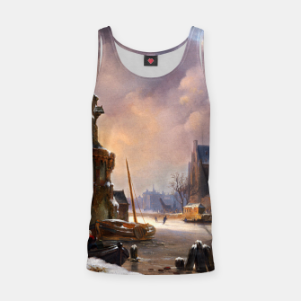 Thumbnail image of Winter Cityscape With Frozen River by Bartholomeus van Hove Tank Top, Live Heroes