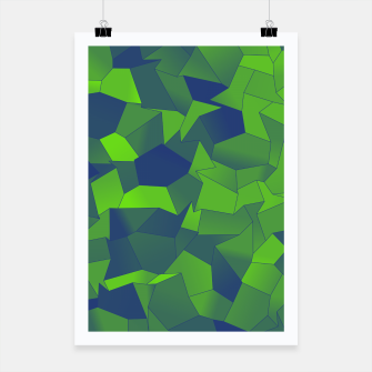 Thumbnail image of Geometric Shapes Fragments Pattern dgb Poster, Live Heroes
