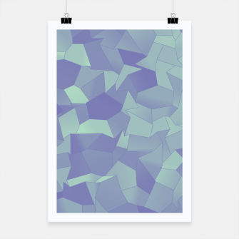 Thumbnail image of Geometric Shapes Fragments Pattern lpb Poster, Live Heroes