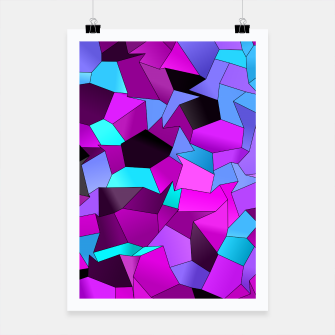 Thumbnail image of Geometric Shapes Fragments Pattern std Poster, Live Heroes
