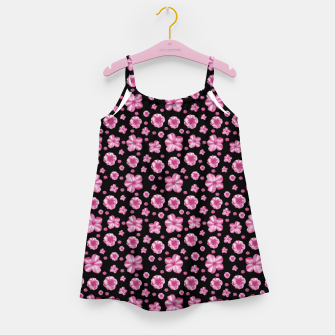 Thumbnail image of Pink and Black Floral Collage Print Girl's dress, Live Heroes
