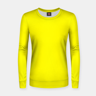 Thumbnail image of Yellow Lemon Solid Color Background Women sweater, Live Heroes