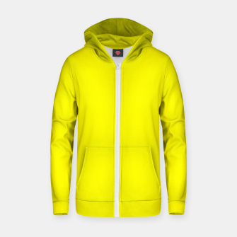 Thumbnail image of Yellow Lemon Solid Color Background Zip up hoodie, Live Heroes