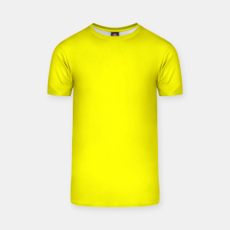 Thumbnail image of Yellow Lemon Solid Color Background T-shirt, Live Heroes