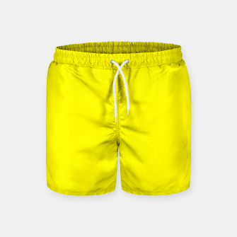 Thumbnail image of Yellow Lemon Solid Color Background Swim Shorts, Live Heroes