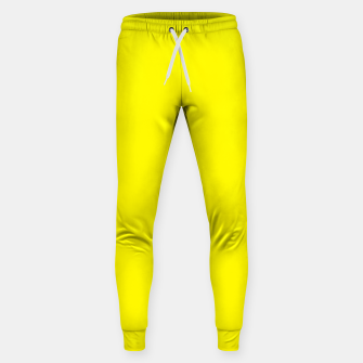 Thumbnail image of Yellow Lemon Solid Color Background Sweatpants, Live Heroes