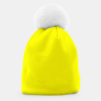 Thumbnail image of Yellow Lemon Solid Color Background Beanie, Live Heroes