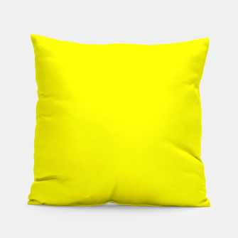 Thumbnail image of Yellow Lemon Solid Color Background Pillow, Live Heroes