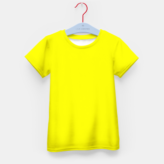 Thumbnail image of Yellow Lemon Solid Color Background Kid's t-shirt, Live Heroes
